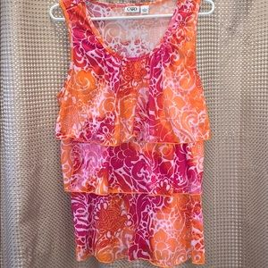 Cato Ruffled Tank Top Size Large